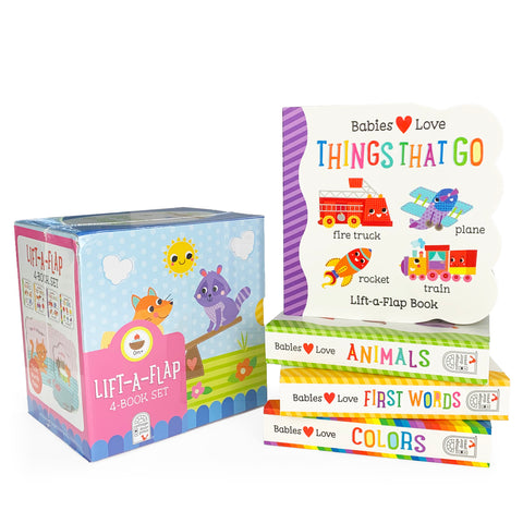 Babies Love Learning: 4 Pack - Lift-a-Flap Gift Set - Cottage Door Press
