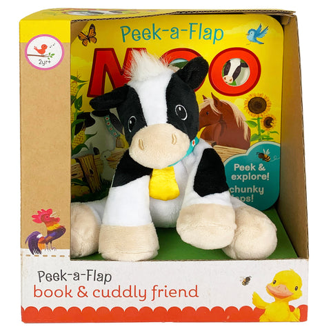 Moo Book & Plush Gift Set - Cottage Door Press