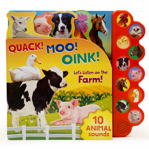 Quack! Moo! Oink! Let's Listen on the Farm! - Cottage Door Press