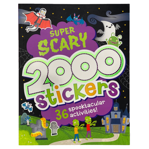 2000 Stickers Super Scary
