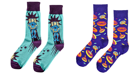 Space and Donut Socks