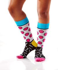 Pink Polka: Women's Crew Socks | Romero Britto Collection