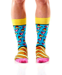 Art of the Heart Women's Crew Socks Model Image Front | Romero Britto Collection | Yo Sox Canada