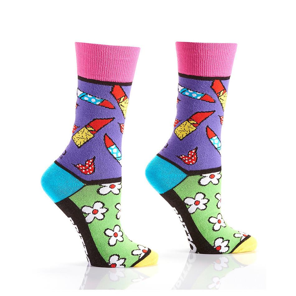 Date Night: Women's Crew Socks | Romero Britto Collection - Yo Sox Canada
