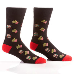 Burger & Fries: Men's Crew Socks - Yo Sox Canada