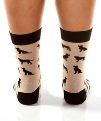 Labrador Retriever Women's Crew Socks Model Image Back | Yo Sox Canada