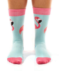 Fabulous Flamingos: Women's Crew Socks - Yo Sox Canada