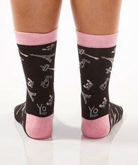 Paris! Women's Crew Socks Model Image Back | Yo Sox Canada