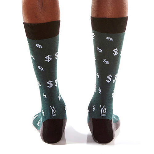 Green Money Men's Crew Socks