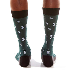 Green Money Men's Crew Socks , Socks - Yo Sox, Canada Yo Sox  - 4