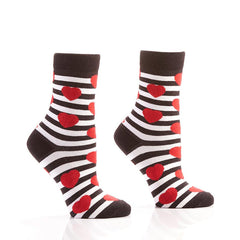 Struck By Cupid: Women's Crew Socks - Yo Sox Canada