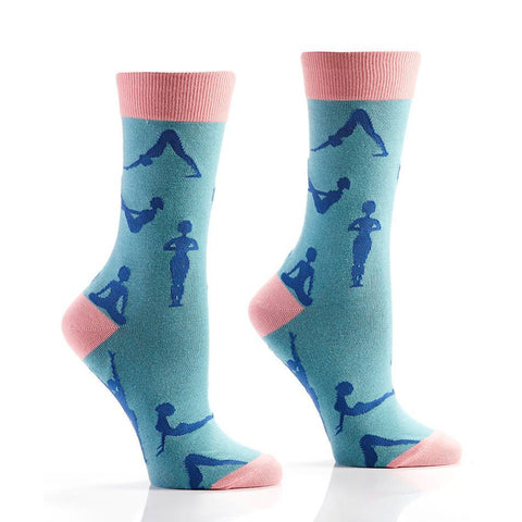 Downward Dog: Women's Crew Socks - Yo Sox Canada
