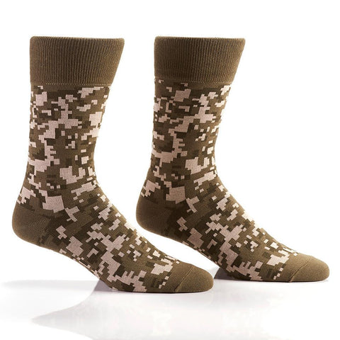 Digital Camo: Men's Crew Socks - Yo Sox Canada