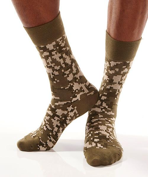 Digital Camo: Men's Crew Socks