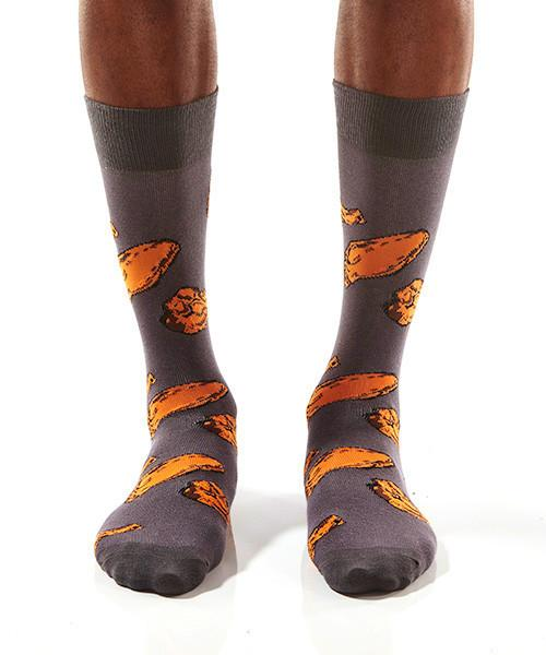 Chicken Wings Men's Crew Socks Model Image Front | Yo Sox Canada