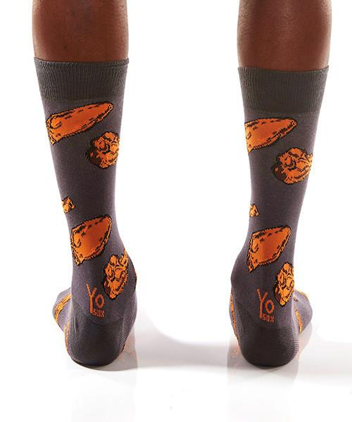 Chicken Wings Men's Crew Socks Model Image Back | Yo Sox Canada