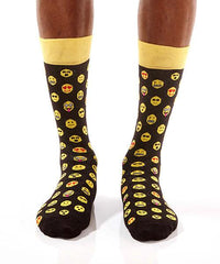 Emoji Life Men's Crew Socks Model Image Front | Yo Sox Canada
