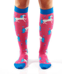 Unicorn Women's Knee-High Socks Model Image Front | Yo Sox Canada