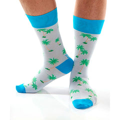 Palm Trees Men's Crew Socks , Socks - Yo Sox, Canada Yo Sox  - 3