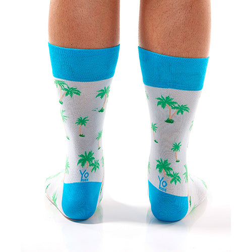 Tropical Vibes Men's Crew Socks , Socks - Yo Sox, Canada Yo Sox  - 4