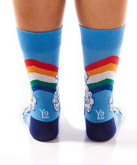 Livin' The Dream Women's Crew Socks Model Image Back | Yo Sox Canada