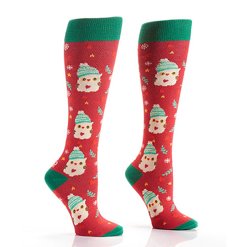 Snow Owl: Women's Knee-High Socks - Yo Sox Canada