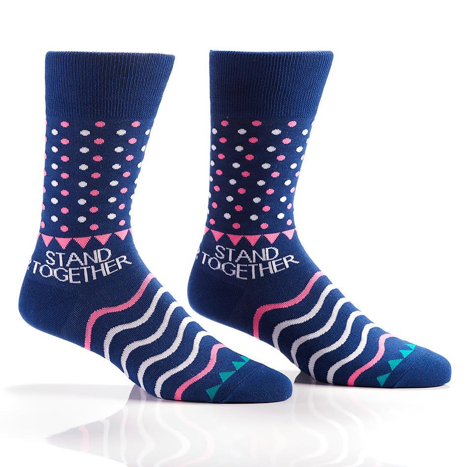 Blue Dots: Men's Crew Socks | Stand Together