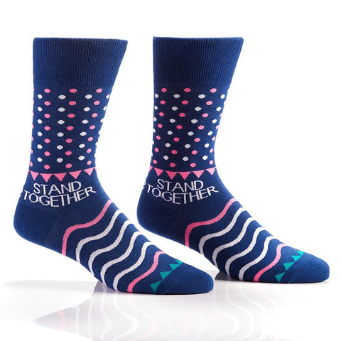 Blue Dots: Men's Crew Socks | Stand Together - Yo Sox Canada