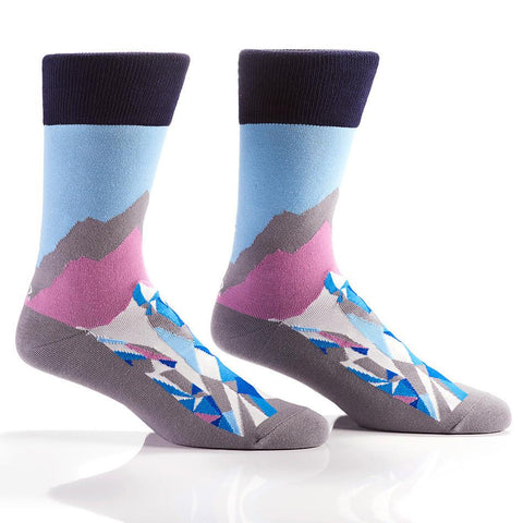 At The Summit: Men's Crew Sock | Pillar Collection - Yo Sox Canada