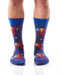 Superhero: Men's Crew Socks - Yo Sox Canada