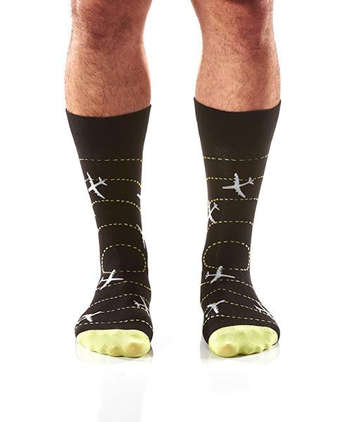 Perfect Landing Men's Crew Socks Model Image Front | Yo Sox Canada