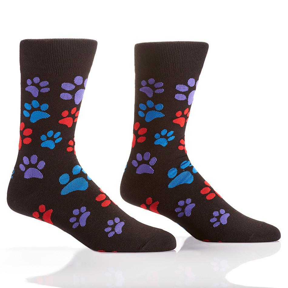 Paw Prints: Men's Crew Socks