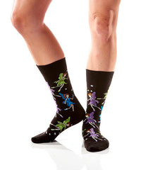 Twinkle Toes Women's Crew Socks Model Image Side | Yo Sox Canada