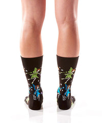 Twinkle Toes Women's Crew Socks Model Image Back | Yo Sox Canada