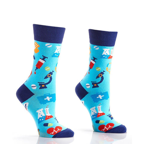 Get Well: Women's Crew Socks - Yo Sox Canada