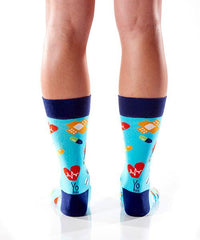 Get Well Women's Crew Socks Model Image Back | Yo Sox Canada