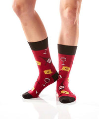 Quit Whining Women's Crew Socks Model Image Side | Yo Sox Canada