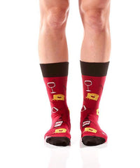 Quit Whining Women's Crew Socks Model Image Front | Yo Sox Canada