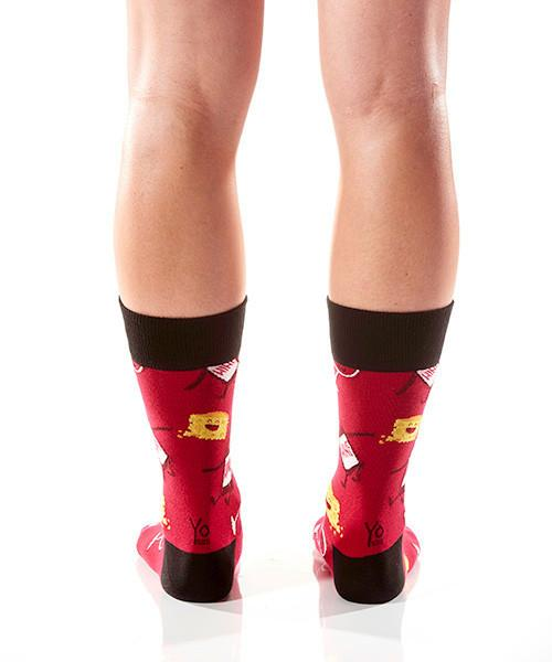 Quit Whining Women's Crew Socks Model Image Back | Yo Sox Canada