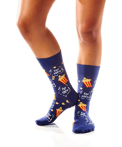 Pop Pop Women's Crew Socks Model Image Side | Yo Sox Canada