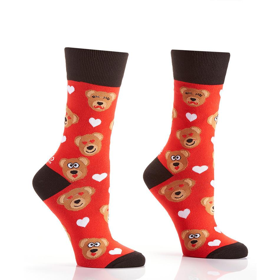 Cuddle Bear: Women's Crew Socks - Yo Sox Canada