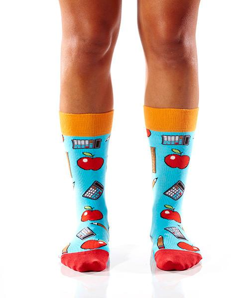 School Kit Women's Crew Socks Model Image Front | Yo Sox Canada