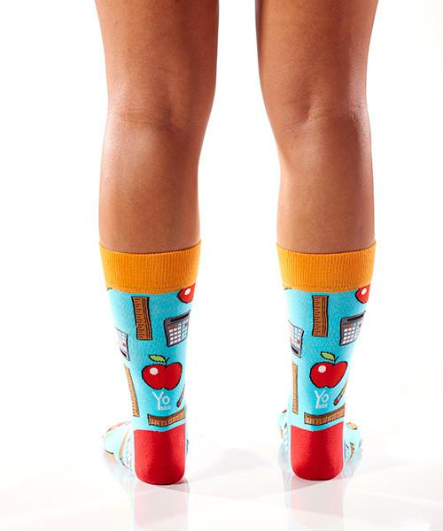 School Kit Women's Crew Socks Model Image Back | Yo Sox Canada