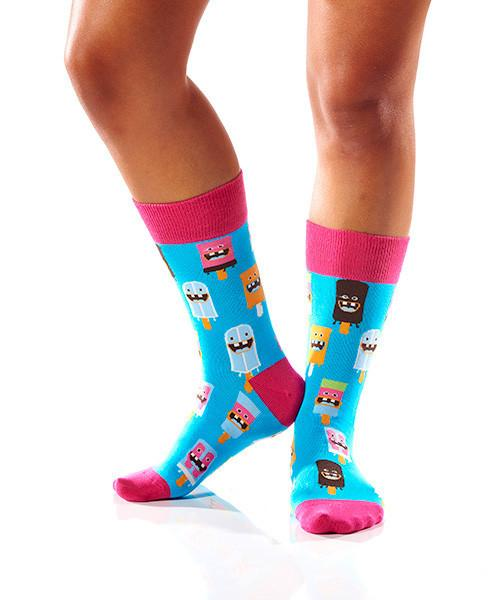 Dental Work Women's Crew Socks Model Image Side | Yo Sox Canada