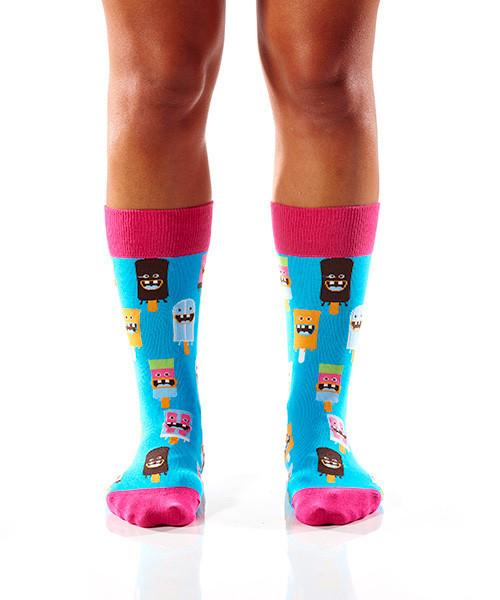 Dental Work Women's Crew Socks Model Image Front | Yo Sox Canada