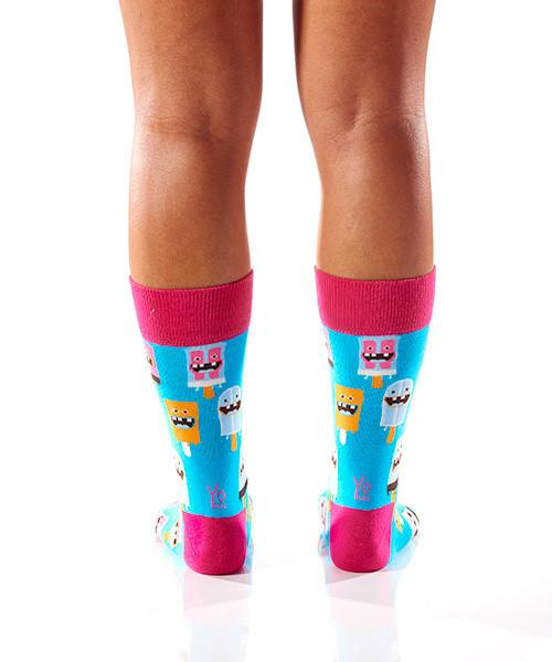 Dental Work Women's Crew Socks Model Image Back | Yo Sox Canada