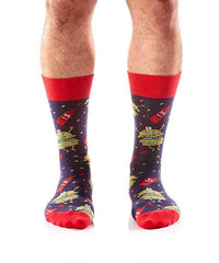 Hamburglers Men's Crew Socks Model Image Front | Yo Sox Canada