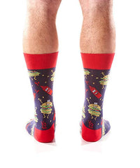 Hamburglers Men's Crew Socks Model Image Back | Yo Sox Canada