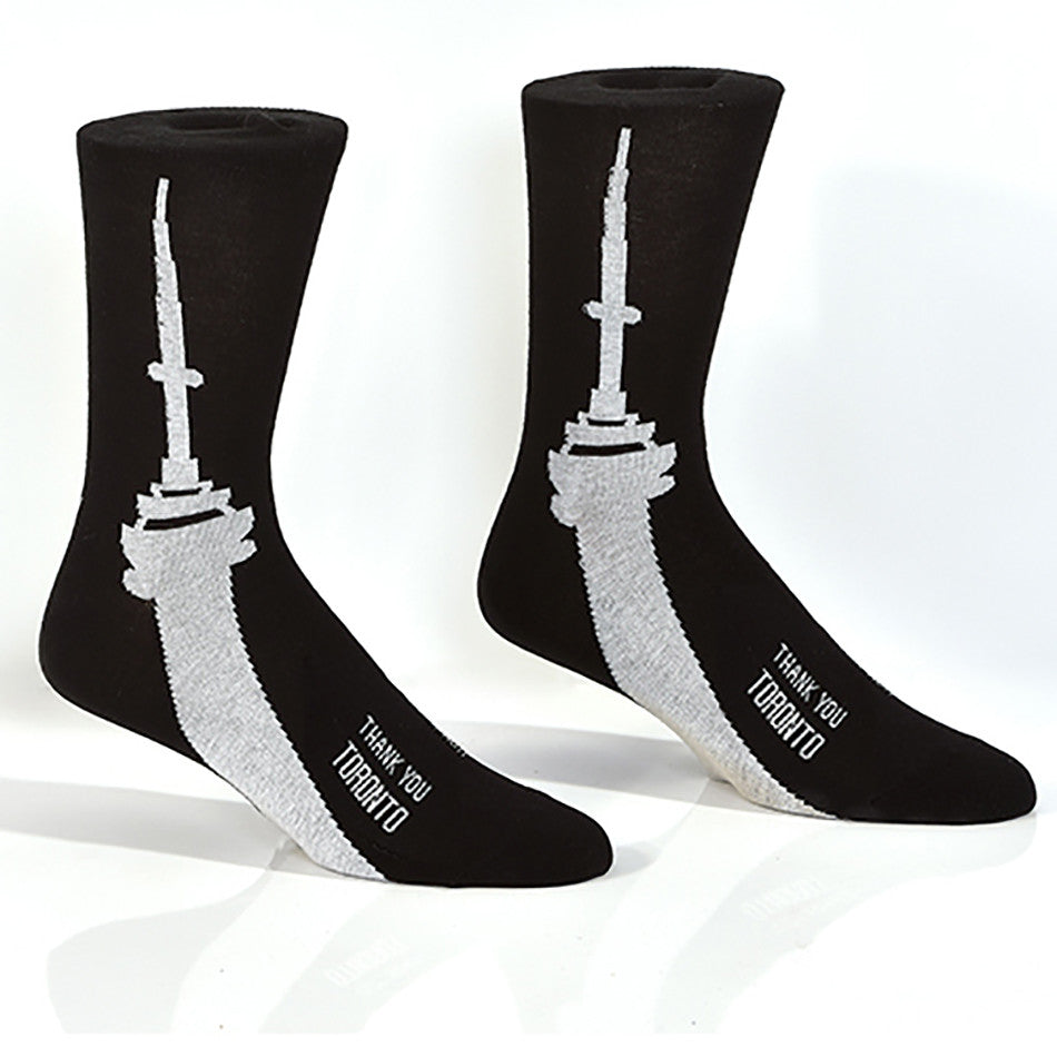 CN Tower Men's Crew Socks | Thank You Toronto