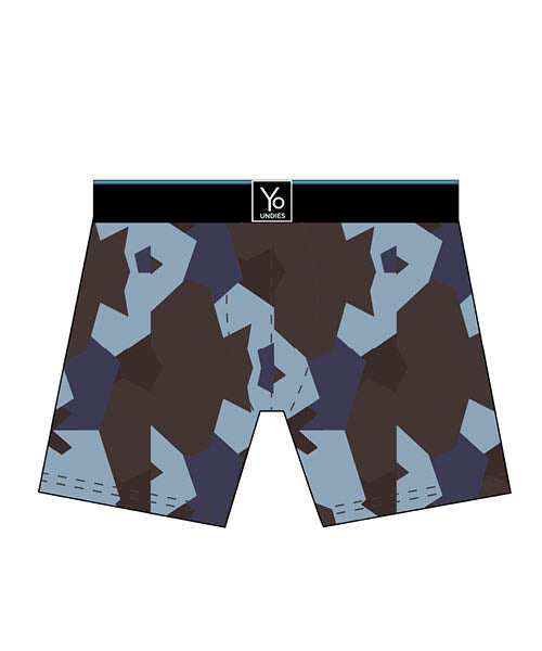 Snow Patrol Camo: Men's Trunk Style Briefs